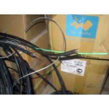 Оптический кабель Б/У для внешней прокладки (с металлическим тросом) в Бийске, оптокабель БУ (Бийск)